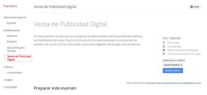venta publicidad digital -certificacion